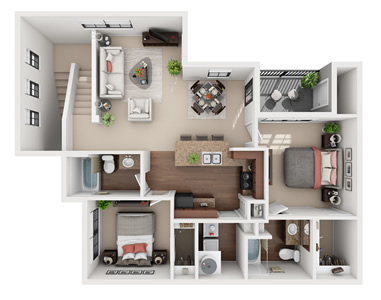 B3U - Two Bedroom / Two Bath*